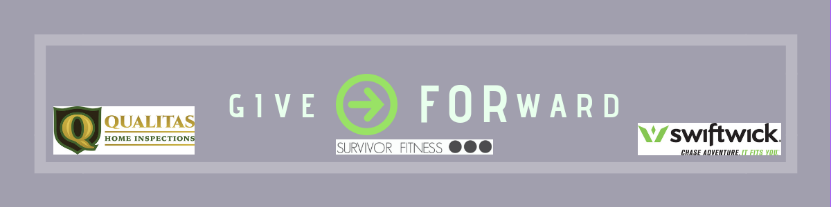 give forward survivor fitness logo with sponsors featured